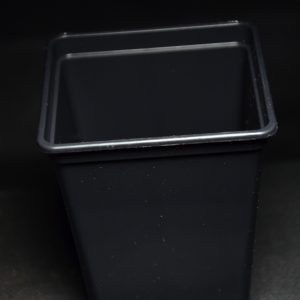 Low Square Black Pot – 7x7x8cm
